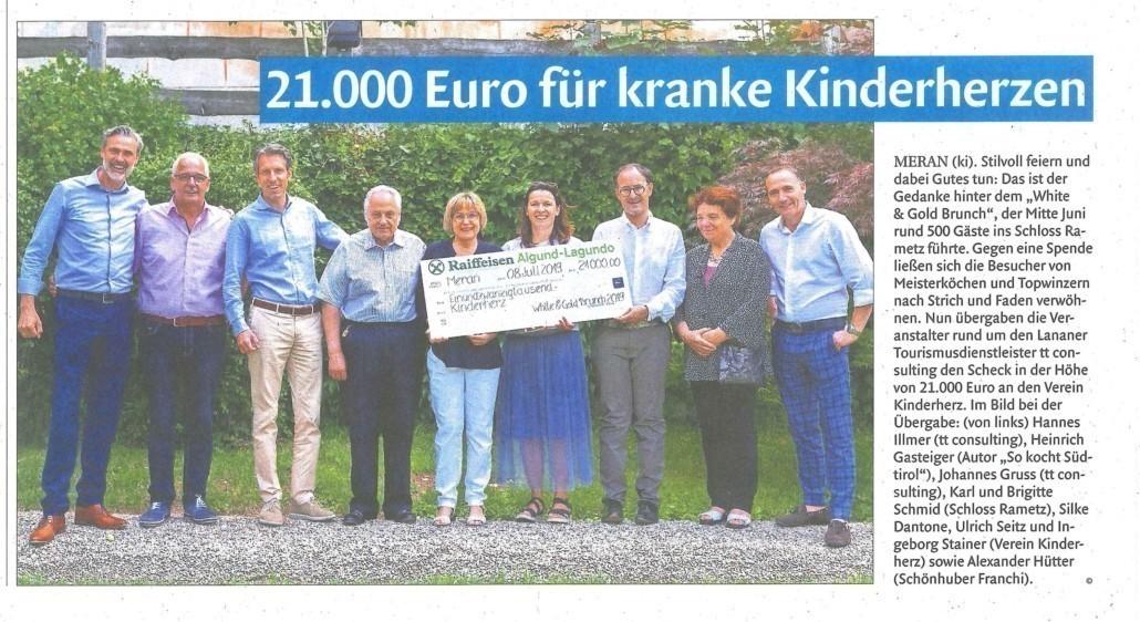 21.000 Euro für kranke Kinderherzen
